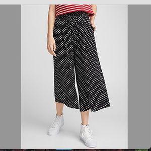 La Classe Couture retro polka dot gaucho pants NWT